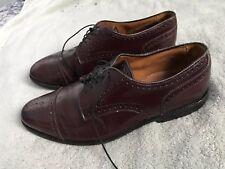 Allen Edmonds Sanford Wing Tips Brown  Leather Shoes Mens Sz 9 SC8