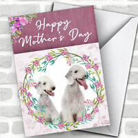Bedlington Terrier Dog Traditional Animal Customised Mother's Day Card