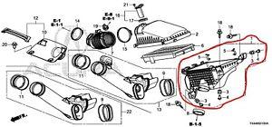 17201R8AA00 Acura OEM 13-18 RDX Air Cleaner Box Bottom Lower Housing Body