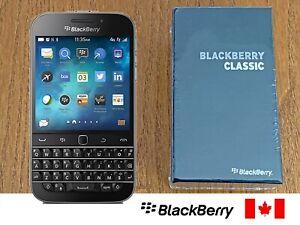BlackBerry Classic Q20 SQC100-2 - 16GB - Black (Unlocked) Keyboard Smartphone
