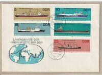 """Ersttagsbrief - """"Liniendienste der Handelsflotte der DDR"""" Marken/Stempel 1982"""