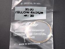 Mido Vintage Yellow Radium Tension Rng Ref#20 Watch Crystal 30mm Permafit Watprf