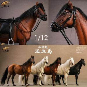 JXK 1/12 JXK013 Hannover Horse Warmblood Anime Statue Palm Figure Toys W/Harness