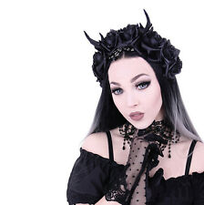 Restyle - ANTLERS, ROSES & BEADS HEADBAND, Gothic headpiece