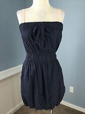 J Crew XS Navy Blue Jersey Knit Bubble Dress Excellent Casual Sundress