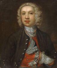 Fine Large 17th 18th Century Italian Boy Master Portrait Antique Oil Painting