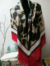 "NWT BURBERRY LONDON ENGLAND SILK  BLEND SCARF/SHAWL 53""x53"" MADE IN ITALY"