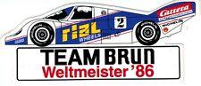 Team Brun Porsche RIAL  Sticker Aufkleber