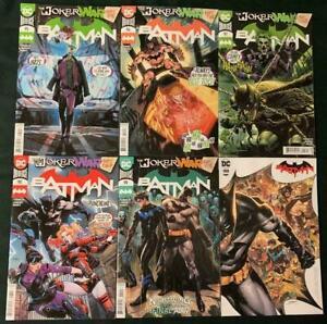 Batman #95 - 100 NM Joker War Parts 1-6 Complete SET Main Covers DC Comics L@@K!