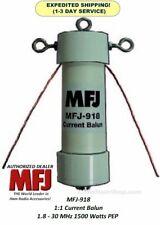 MFJ 918, 1:1 CURRENT BALUN, COVERS 1.8-30 MHZ, 1500 WATTS PEP, TEFLON SO-239