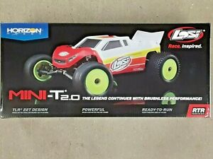 Losi Mini-T 2.0 1/18 RTR 2WD Brushless Stadium Truck Red LOS01019T1 Brand New!!