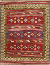 Multicolor Oriental Handmade kilim rug 200 x 135 cm/6'.5'' x 4'.4'' feet