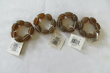 Set of 4 Furio Glass Beads Napkin Rings NWT
