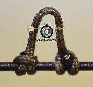 2 Pack Dark Brown Archery Release Bow String Nock D Loop Bowstring BCY #24