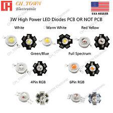 10pcs 3w White Royal Blue Orange Uv Violet Rgb High Power Led Chip Cob Lamp Pcb