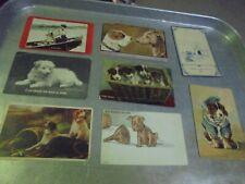 Vintage Lot of eight dog postcards Lot 1
