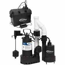 Proflo Pf92952 13 Hp Combination Primary Amp Backup Sump Pump System