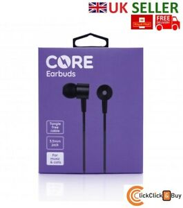 100% Genuine Core Earbuds Earphones Headphones Black for Samsung, Apple etc - UK