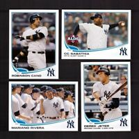 2013 Topps  NEW YORK YANKEES Team Set Series 1 & 2 w/ Updates 49 Cards