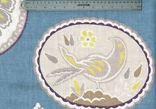 4.50 Yds Braemore Fabric Imperial Treasure Blue Drapery Upholstery