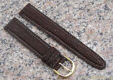 18mm BROWN NOS Watch Band Genuine SHARK SKIN Strap Made in USA Item #652