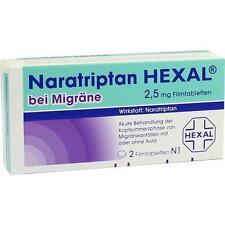 NARATRIPTAN HEXAL bei Migräne 2,5 mg Filmtabletten 2 St PZN 9334719