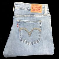 LEVIS 535 Jeans Super Skinny Jeans Ripped Denim mid rise Brand New 28W 31W 33W