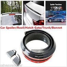 Universal Carbon Fiber Soft Styling Car Roof Trunk Spoiler Wing Lip Trim Sticker