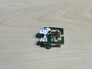 Vintage Snoopy Letter E Enamel Badge by Aviva