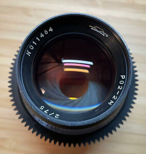 Very Good - Soviet Lomo 75mm f/2.0 Vintage Lens - PL mount - Please Read Descrip