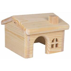 Trixie Wooden House for Hamster, Mouse, Small Animals - Natural Pine, 15x11x15cm