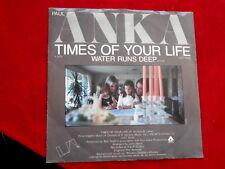 PAUL ANKA~ TIMES OF YOUR LIFE~ NEAR MINT~ SLEEVE & RECORDS~ U A 737~ TEEN 45