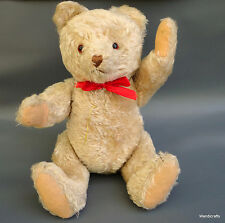 Hermann Spielwaren Teddy Bear Champagne Mohair Plush 46cm 18in Growler Jointed