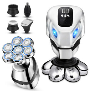 Rotary Electric Shaver Electric Razor Bald Head Shaver Grooming Kit Rechargeable