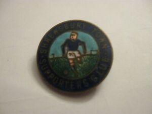 RARE OLD SHREWSBURY TOWN FOOTBALL SUPPORTERS CLUB ENAMEL BROOCH PIN BADGE