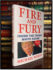 Fire And Fury ✍SIGNED✍ by MICHAEL WOLFF New Inside the White House Hardback