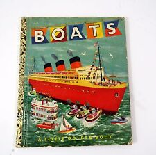 """Little Golden Books - """"Boats"""" - 1951 First Printing"""
