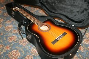 Cordoba C5 CESB Acoustic Electric Classical Guitar w Hard Case RARE SUNBURST!!!