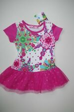 DESIGUAL sz 6 M / 68 CM NEWBORN BABY GIRL DRESS TUTU DOT TULLE MESH SHORTSLEEVE