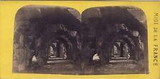 Nîmes Galerie des Arènes Midi de la France Photo Stereo Vintage albumine ca 1865