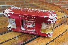 Set of 3 Wax Lyrical Candles in presentation box