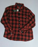 Polo Ralph Lauren Country Sportsman Red Buffalo Plaid Snaps Shirt Size Medium