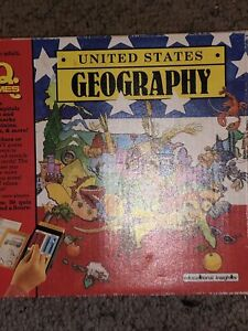 I.Q. Games United States Geography 1989 - Missing Plastic Pegs