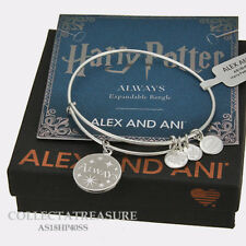 Authentic Alex and Ani Harry Potter, Always Shiny Silver ExpandableCharm Bangle