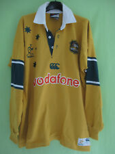 Maillot Rugby Australie WALLABIES Vofafone Jersey Canterbury coton vintage - L