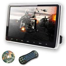 "HD 10""Digital LCD Screen Car Headrest Monitor DVD/USB/SD TV Player IR/FM Game"