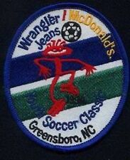 MCDONALDS YOUTH SOCCER WRANGLER JEANS NC '99 FOOTBALL JERSEY LOGO PATCH NEW