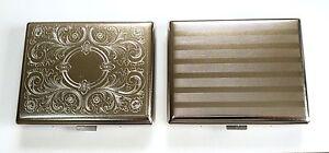 Super King Size Highly Polished Metal Cigarette Case Box -HOLDS 20 CIGARETTES