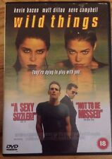 Wild Things (DVD, 1999) In Good Condition Kevin Bacon & Neve Campbell