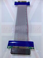 De alta calidad de la ranura PCI-E 1X Tarjeta Vertical Extensión Flex reubicar Cable 20cm